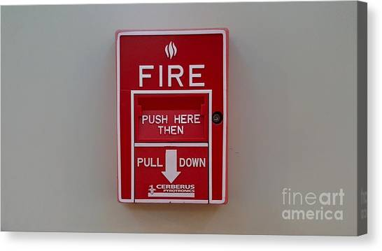 James Madison University Jmu Canvas Print - Fire Alarm Pull Station by Ben Schumin