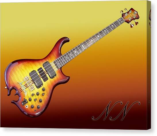 String Instrument Canvas Print - Guitar by Maye Loeser