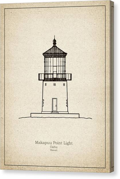 Makapuu canvas prints fine art america makapuu canvas print makapuu point lighthouse hawaii blueprint drawing by jose elias malvernweather Gallery