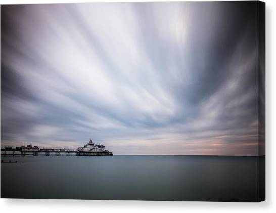 10 Minute Exposure Of Eastbourne Pier Canvas Print