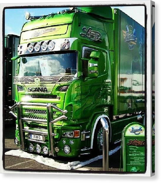 Trucks Canvas Print - #scania #truck #lkw #truckfest #nordic by Daniel Eder