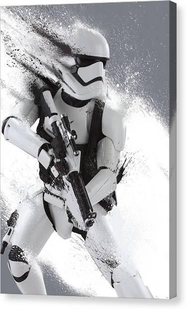 Yoda Canvas Print - Star Wars Episode Vii - The Force Awakens 2015 by Geek N Rock