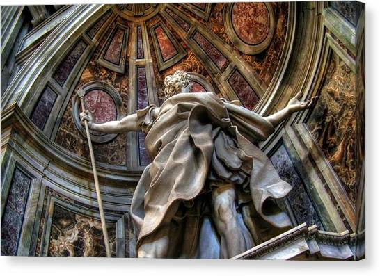 Vault Canvas Print - Statue by Mariel Mcmeeking