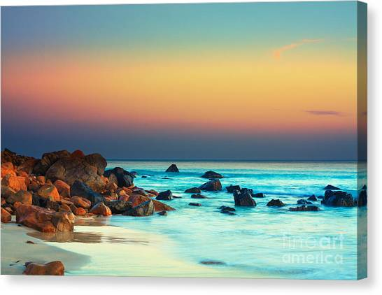 Water Canvas Print - Sunset by MotHaiBaPhoto Prints