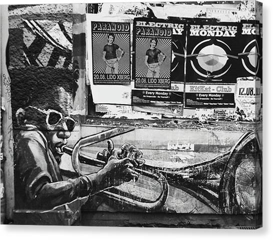 Trumpets Canvas Print - #walls #berlin #kreuzberg #xberg by Sascha Mueller