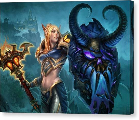 World Of Warcraft Canvas Print - World Of Warcraft by Super Lovely