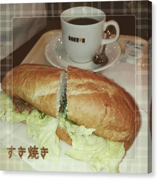 Sandwich Canvas Print - Instagram Photo by Tomomi Sato