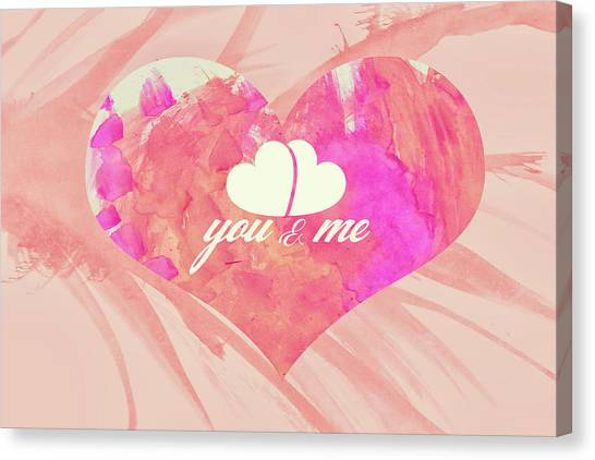 10183 You And Me Canvas Print