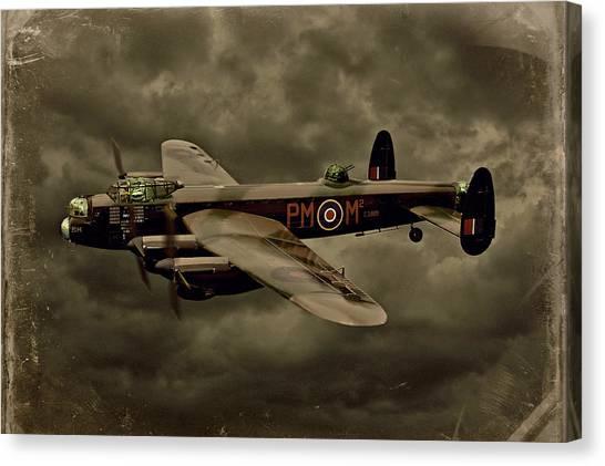Canvas Print - 103 Squadron Avro Lancaster by Steven Agius