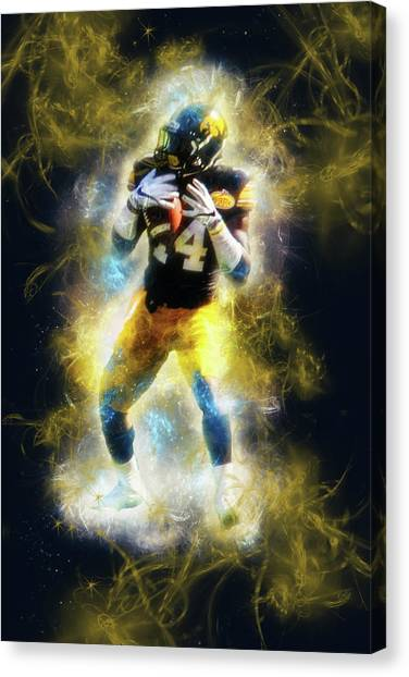 University Of Iowa Canvas Print - 10697 The Receiver by Pamela Williams