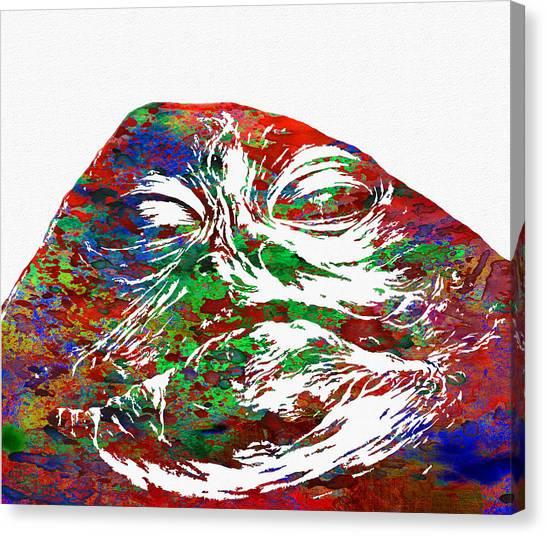 Jabba The Hutt Canvas Print - Star Wars by Elena Kosvincheva