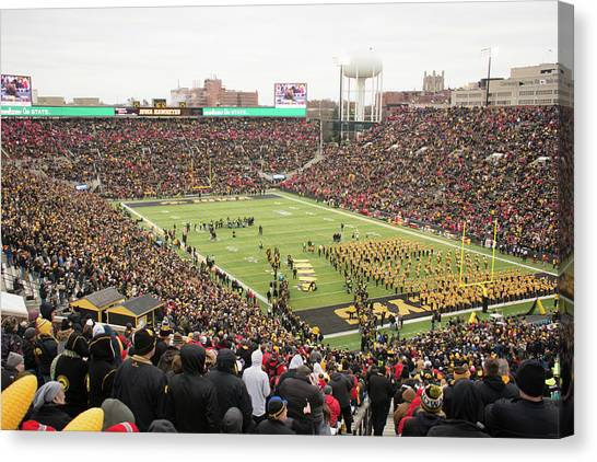 University Of Iowa Canvas Print - 10725 Kinnick Stadium by Pamela Williams