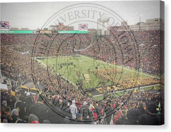 University Of Iowa Canvas Print - 10728 Kinnick Stadium by Pamela Williams