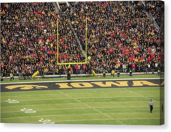 University Of Iowa Canvas Print - 10729 Kinnick Stadium by Pamela Williams