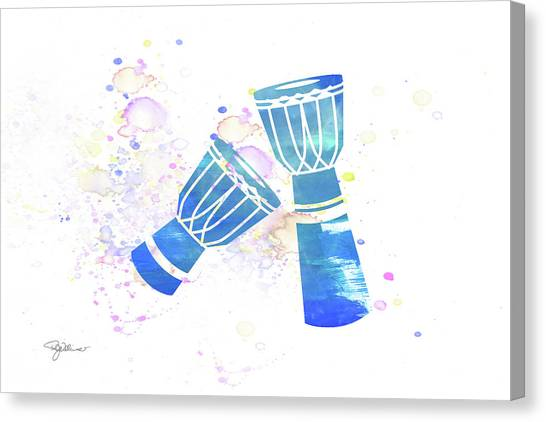 Djembe Canvas Print - 10829 Djembe Drums by Pamela Williams