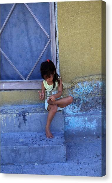 Impartial Canvas Print - Cuidad Juarez Mexico Color From 1986-1995 by Mark Goebel