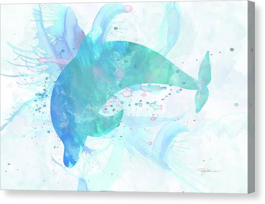 Bottlenose Dolphins Canvas Print - 10955 Dolphin by Pamela Williams