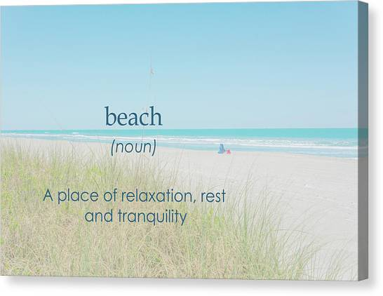 10967 Beach Tranquility Canvas Print