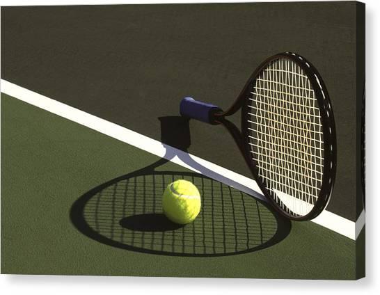 Tennis Ball Canvas Print - 10sne1 by Gerard Fritz