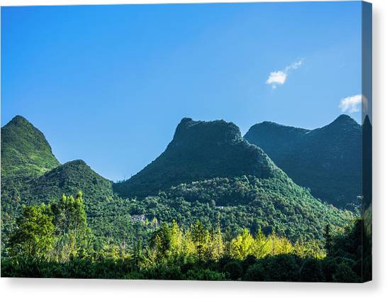 Countryside Scenery In Autumn Canvas Print