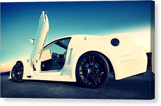 Satellite Canvas Print - Ford Mustang by Mariel Mcmeeking