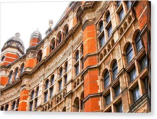 Architectural Detail Canvas Print - London Building by Tom Gowanlock