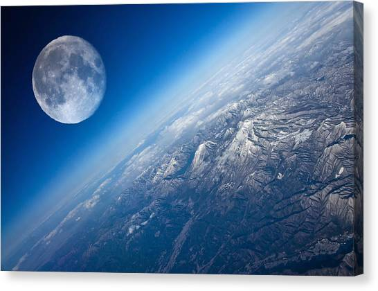Satellite Canvas Print - Planet by Super Lovely