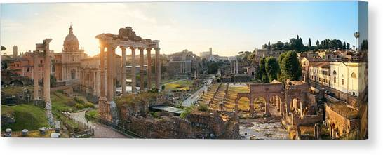 Rome Forum  Canvas Print by Songquan Deng