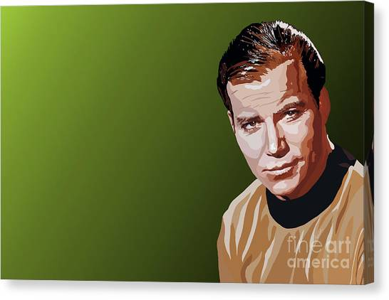 James T. Kirk Canvas Print - 113. Captain by Tam Hazlewood