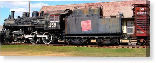 1158 Steam Train Canvas Print
