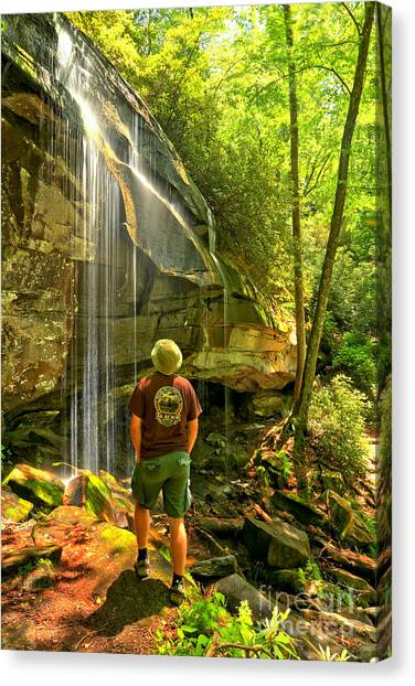 Pisgah National Forest Canvas Print - Pisgah National Forest Hiker by Adam Jewell