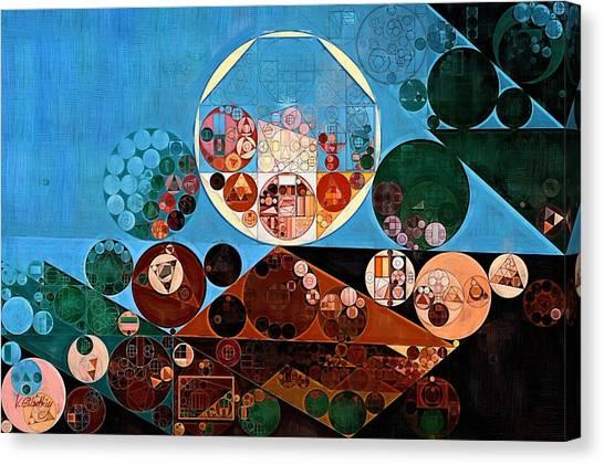 Deltas Canvas Print - Abstract Painting - Zinnwaldite Brown by Vitaliy Gladkiy