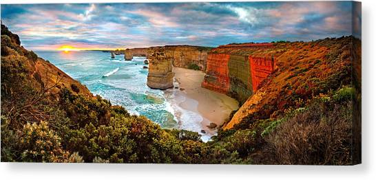 Australian Canvas Print - 12 Apostle Sunset by Az Jackson
