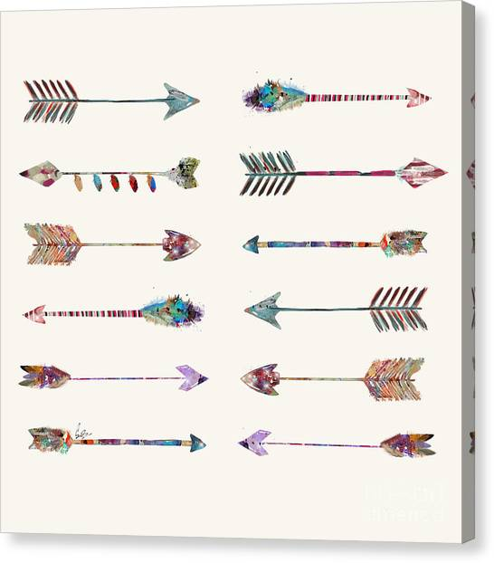 Native Canvas Print - 12 Arrows by Bri Buckley