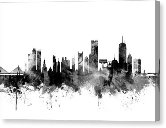 Boston Skyline Canvas Print - Boston Massachusetts Skyline by Michael Tompsett