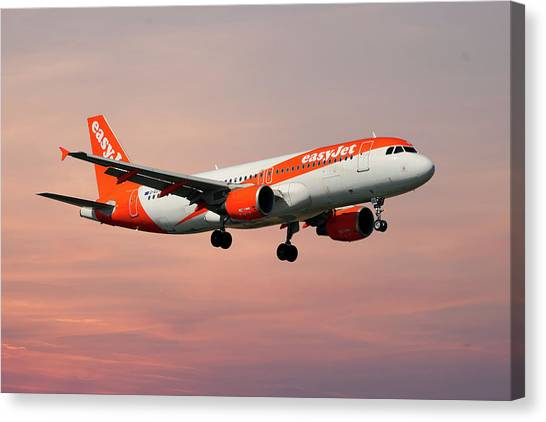 Canvas Print - Easyjet Airbus A319-111 by Smart Aviation