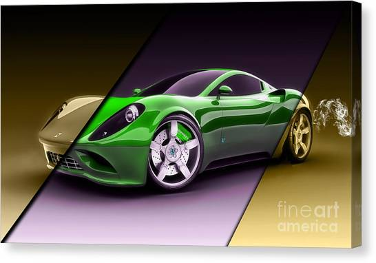 Race Cars Canvas Print - Ferrari Collection by Marvin Blaine