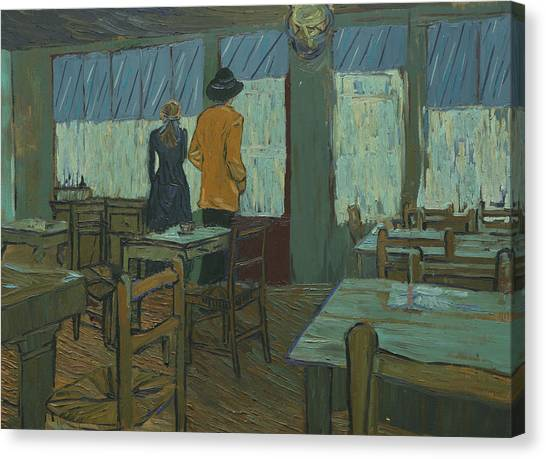 Vincent Van Gogh Canvas Print - Armand And Adeline In Ravoux-inn by Shuchi Muley