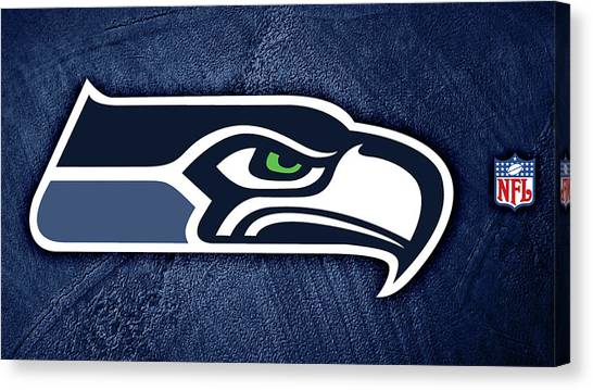 Seattle Seahawks Canvas Print - Seattle Seahawks by Super Lovely