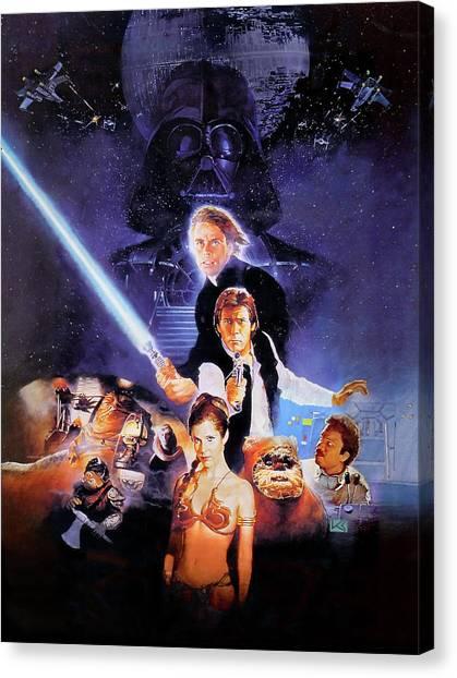 Chewbacca Canvas Print - Star Wars Episode Vi - Return Of The Jedi 1983 by Fine Artist
