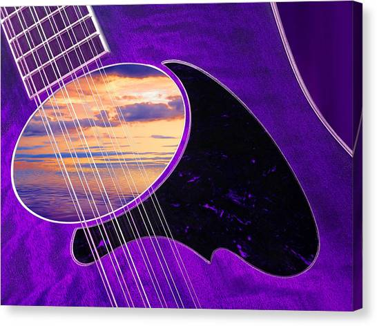 Classical Guitars Canvas Print - 12 String Passion by Gill Billington