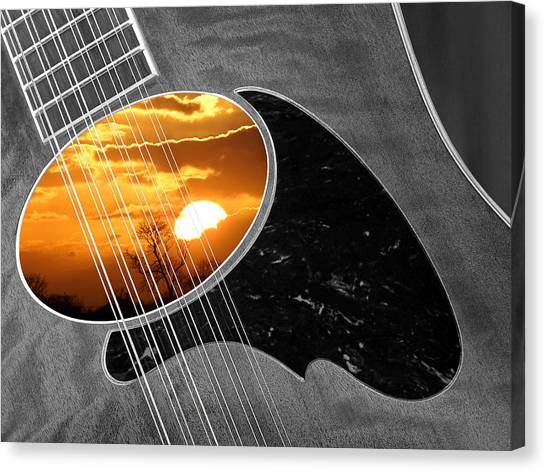 Classical Guitars Canvas Print - 12 String Sunset Dreams by Gill Billington