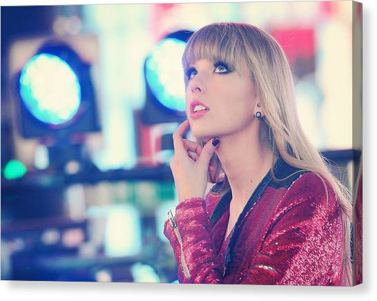 Taylor Swift Canvas Print - Taylor Swift by Jackie Russo