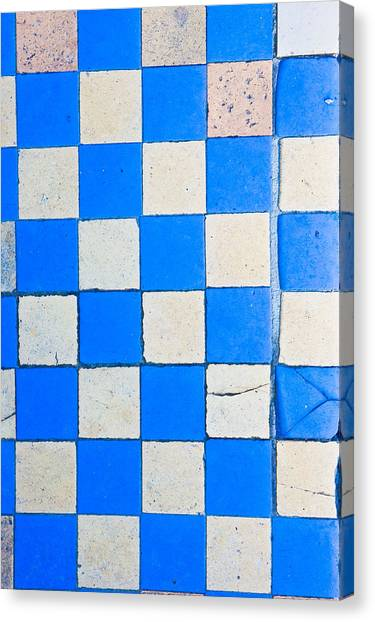 Chequered Canvas Print - Tiles by Tom Gowanlock