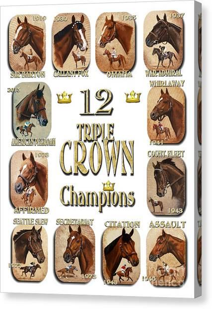 12 Triple Crown Champions Canvas Print