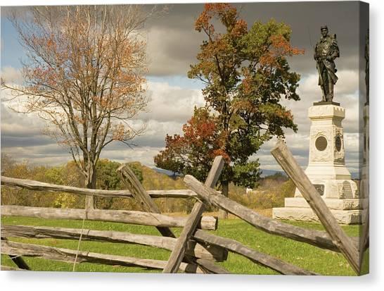 124th Pennsylvania Infantry Monument Canvas Print