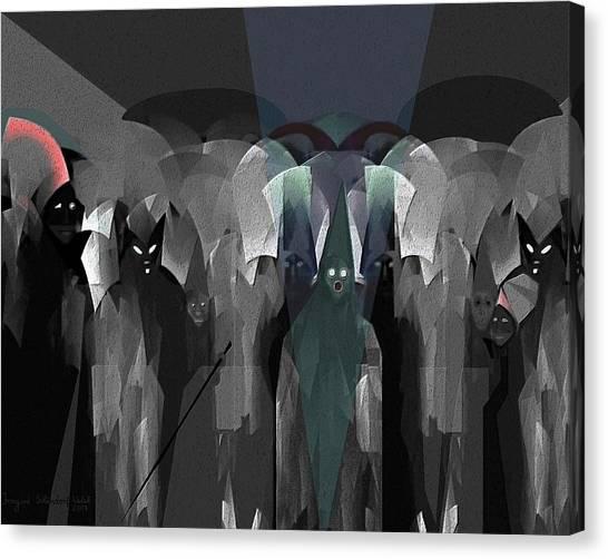 127 -  Nightwalkers Dark Canvas Print by Irmgard Schoendorf Welch