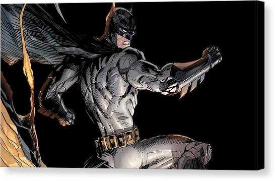 Biology Canvas Print - Batman by Maye Loeser