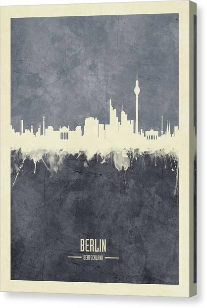Berlin Canvas Print - Berlin Germany Skyline by Michael Tompsett