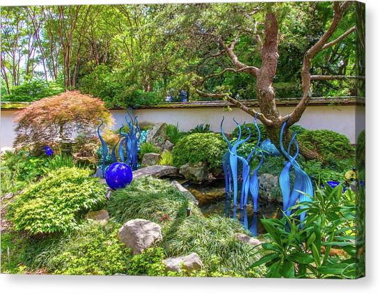 Blown Glass Garden Art Canvas Print   Chihuly Exhibition In The Atlanta  Botanical Garden. #